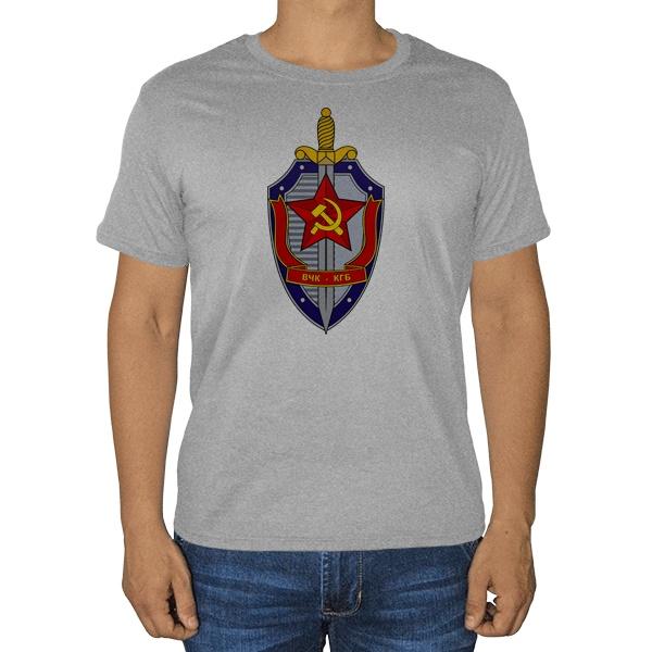 ВЧК-КГБ, серая футболка (меланж)
