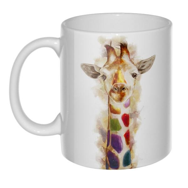Разноцветный жираф, 3D-кружка