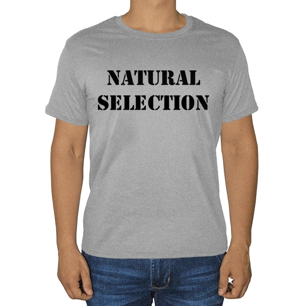 Natural Selection, серая футболка (меланж)