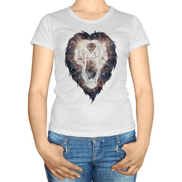 Женская футболка Череп льва