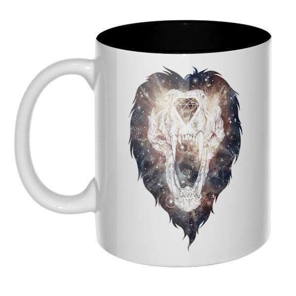 Череп льва, кружка цветная внутри