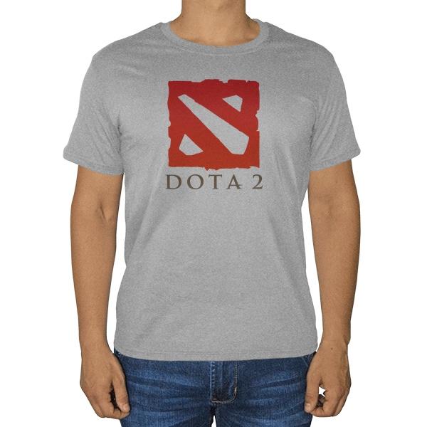 Дота 2, серая футболка (меланж)