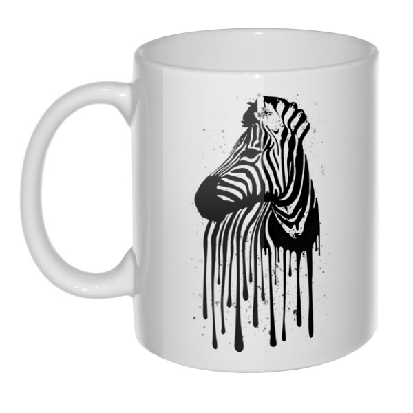 Кружка Стекающий рисунок зебры