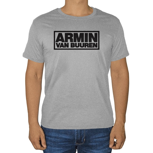Armin van Buuren, серая футболка (меланж)