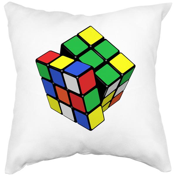 Подушка Кубик Рубика, цвет белый