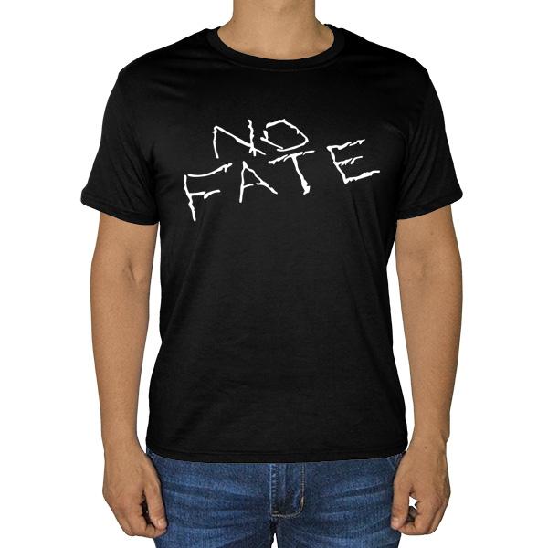 Черная футболка No fate (Нет судьбы)