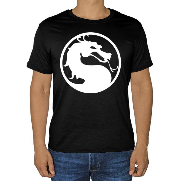 Черная футболка Мортал Комбат (Смертельная битва)