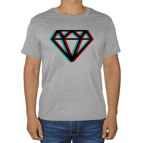 Stereo Brilliant, серая футболка (меланж)
