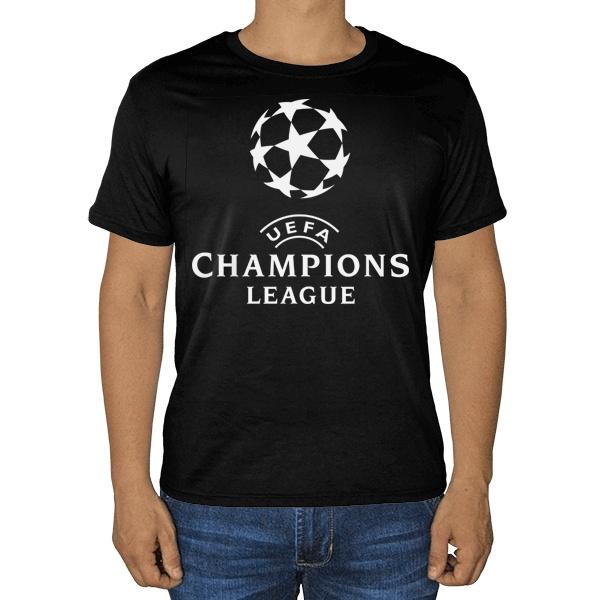 Черная футболка Лига чемпионов (Champions League)