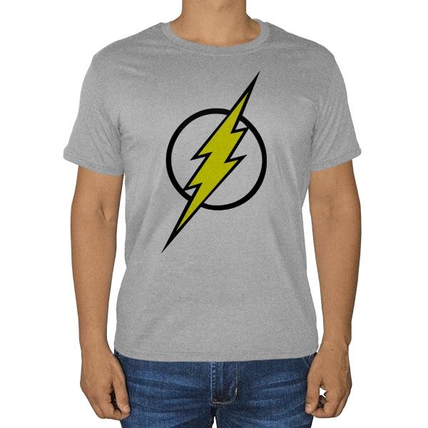 Flash, серая футболка (меланж)