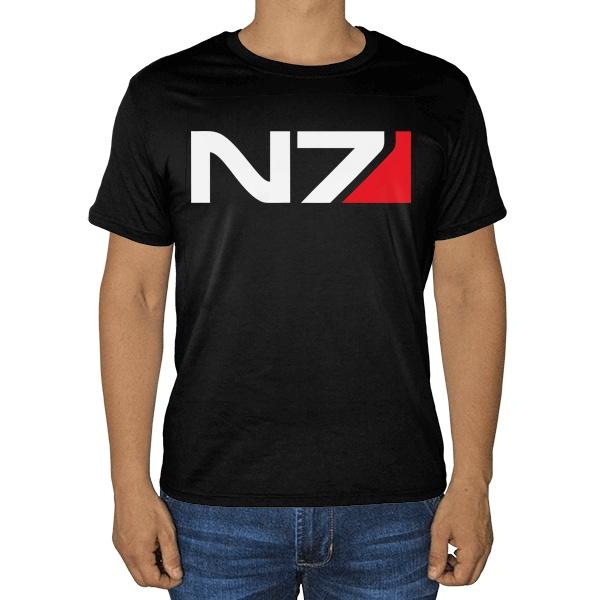 Черная футболка N7