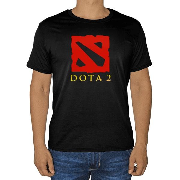 Черная футболка Dota 2