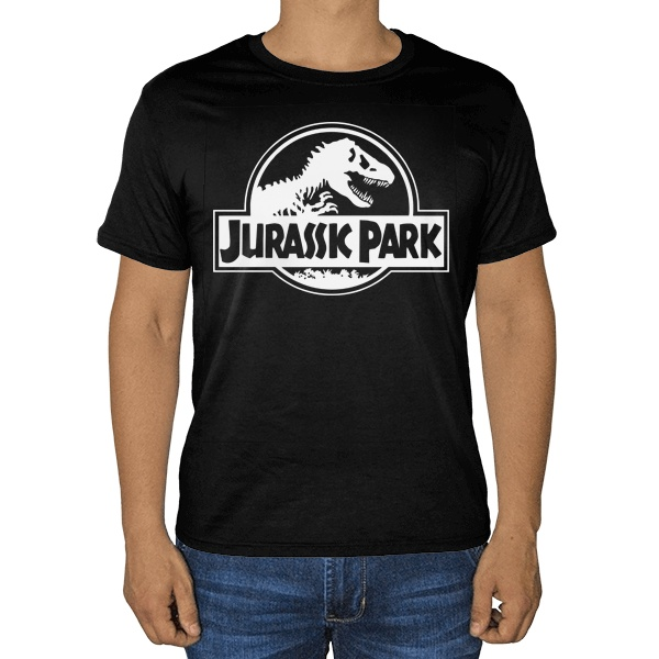 Черная футболка Jurassic Park