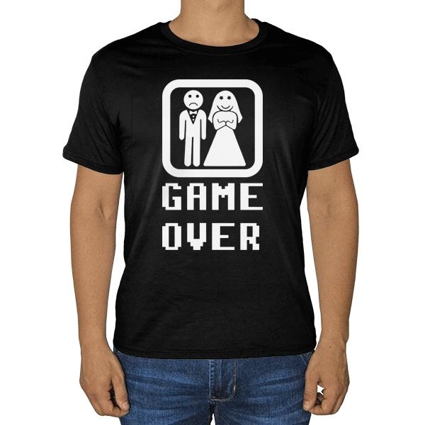 Черная футболка Game Over