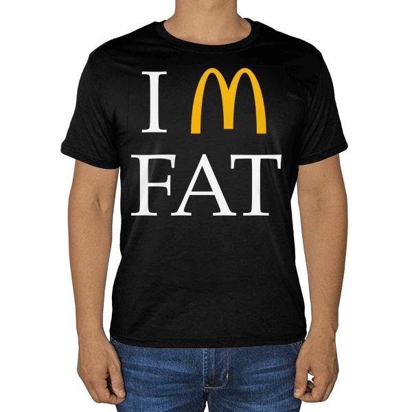 Черная футболка I am fat