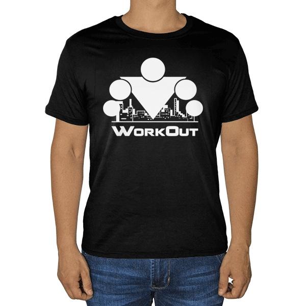 Черная футболка Workout