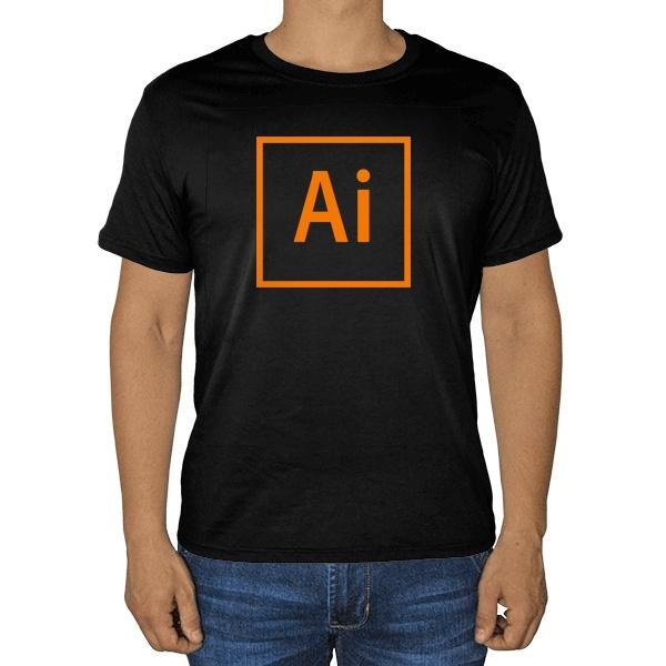Черная футболка Лого Illustrator