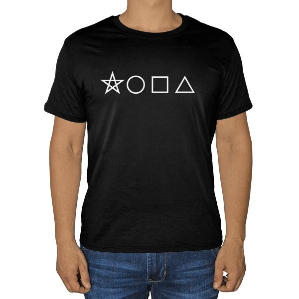 Черная футболка Геометрическая жопа
