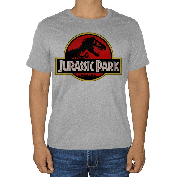 Парк Юрского периода, серая футболка (меланж)