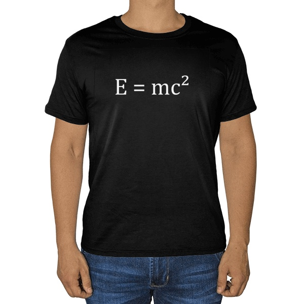 Черная футболка E=mc²