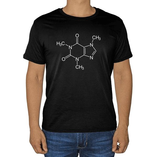 Черная футболка Кофеин