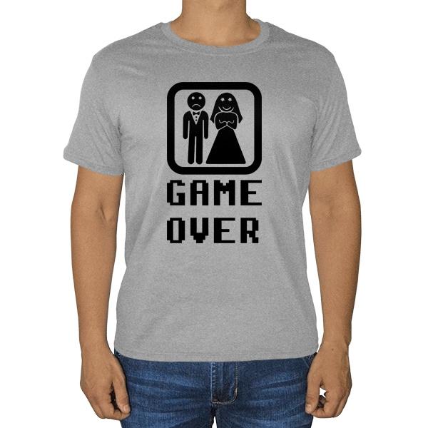 Game Over (свадьба), серая футболка (меланж)