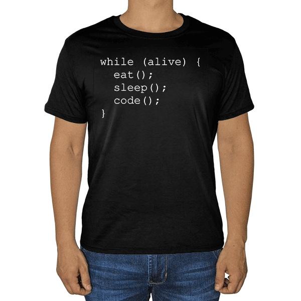 Черная футболка Программисту