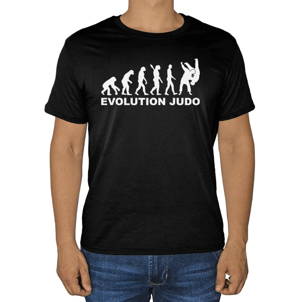 Черная футболка Эволюция Дзюдо
