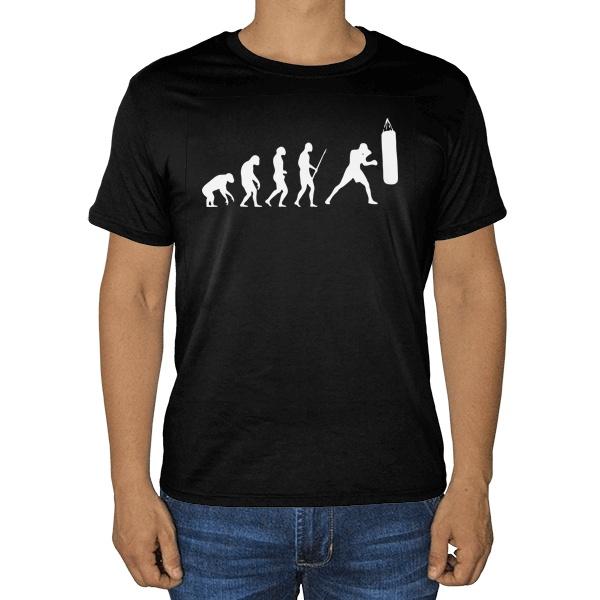 Черная футболка Эволюция бокса