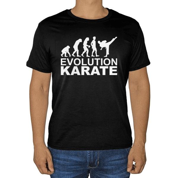 Черная футболка Эволюция карате