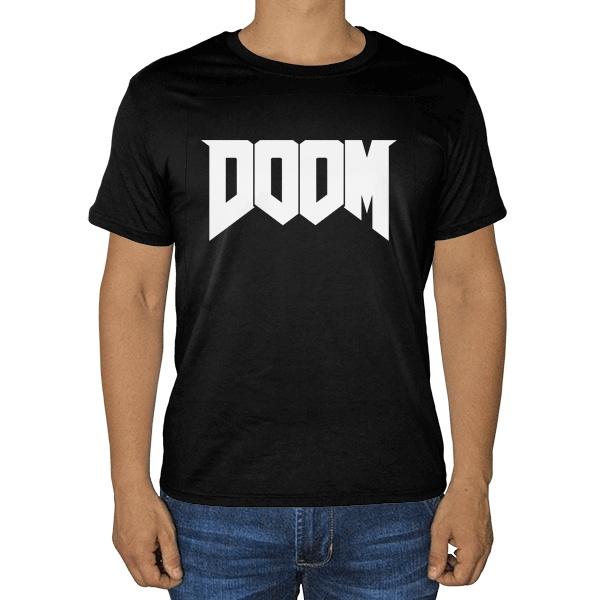 Черная футболка DOOM