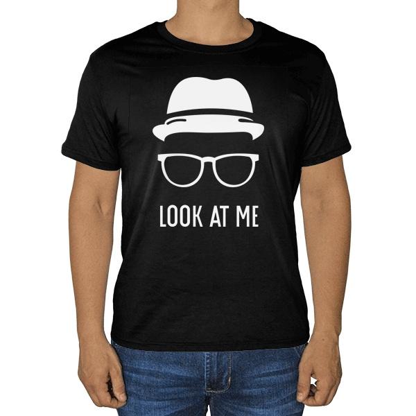 Черная футболка Look at me