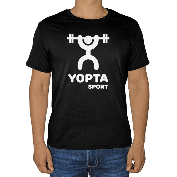 Черная футболка Yopta Sport