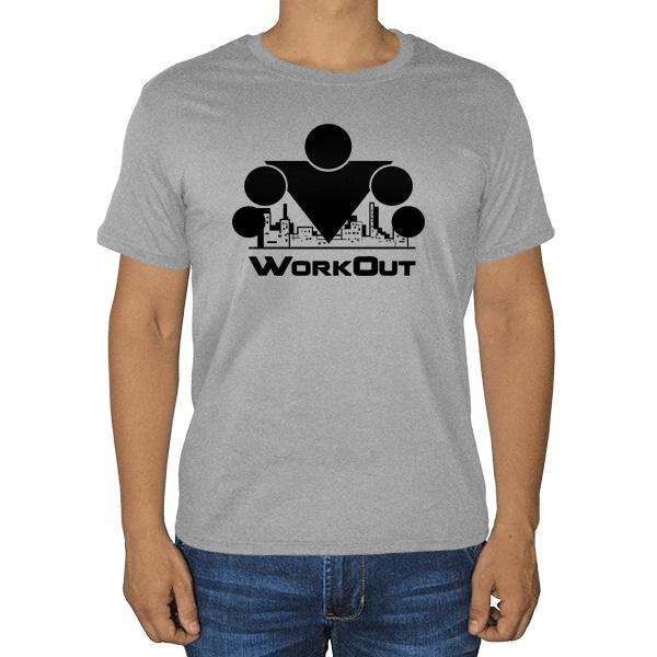 Workout, серая футболка (меланж)