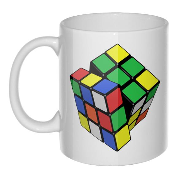 Кружка Кубик Рубика, цвет белый