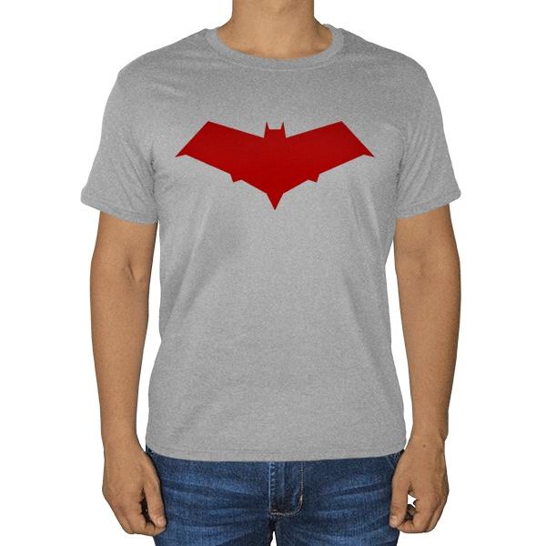 Красный колпак, серая футболка (меланж)