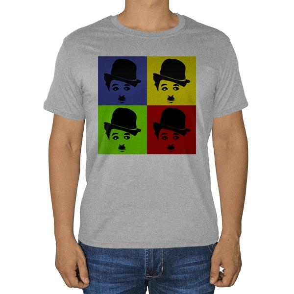 Чарли Чаплин, серая футболка (меланж)