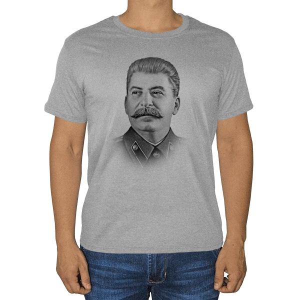 Иосиф Сталин, серая футболка (меланж)