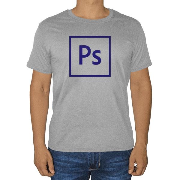 Photoshop, серая футболка (меланж)