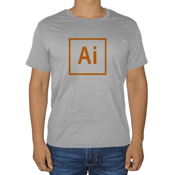 Illustrator, серая футболка (меланж)