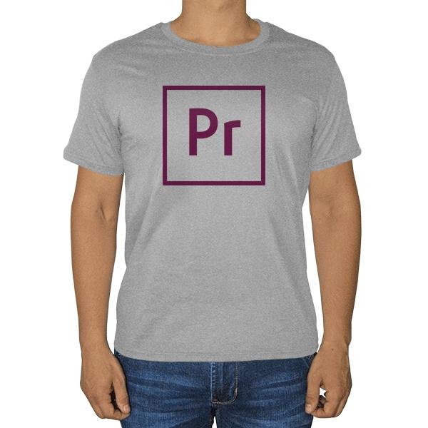 Premiere, серая футболка (меланж)