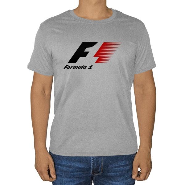 Формула-1, серая футболка (меланж)