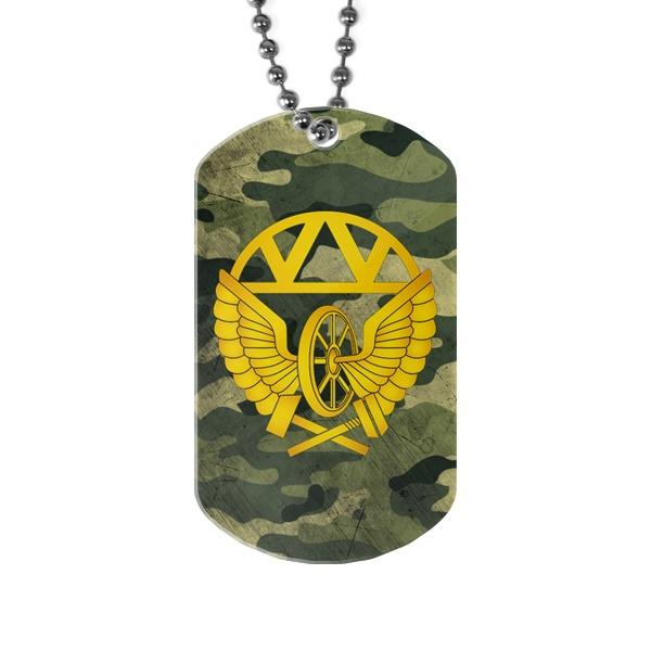 Армейский жетон ЖДВ (хаки), цвет белый