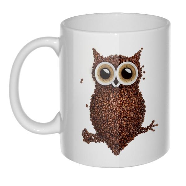 Кружка Сова из кофе