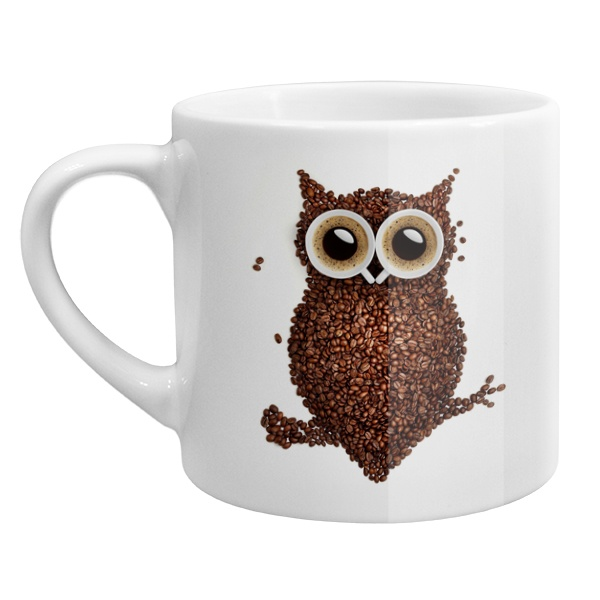 Кофейная чашка Сова из кофе
