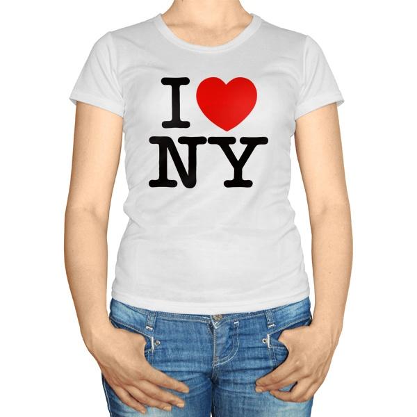 Женская футболка i ❤ ny