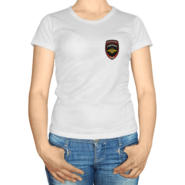 Женская футболка Эмблема полиции России