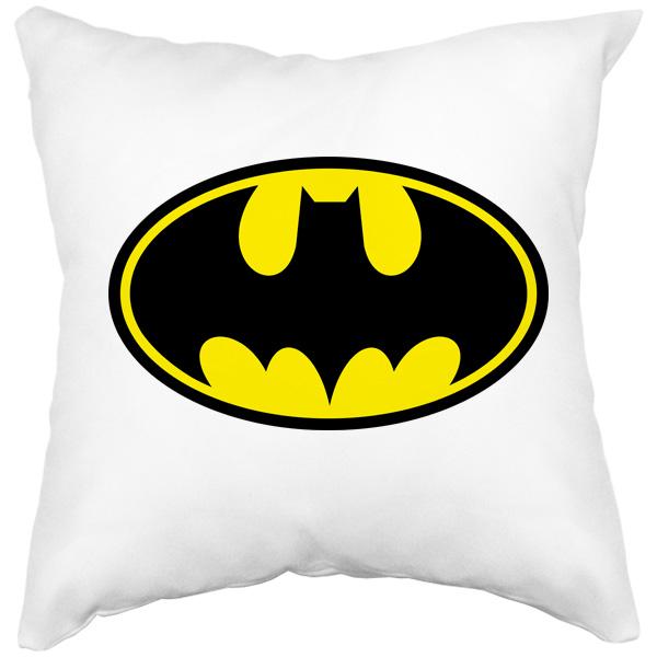 Подушка белая Batman