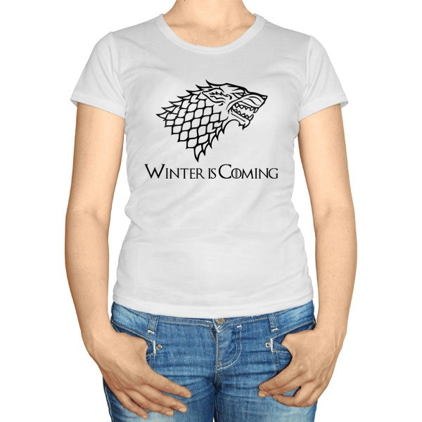 Женская футболка Игра престолов, цвет белый