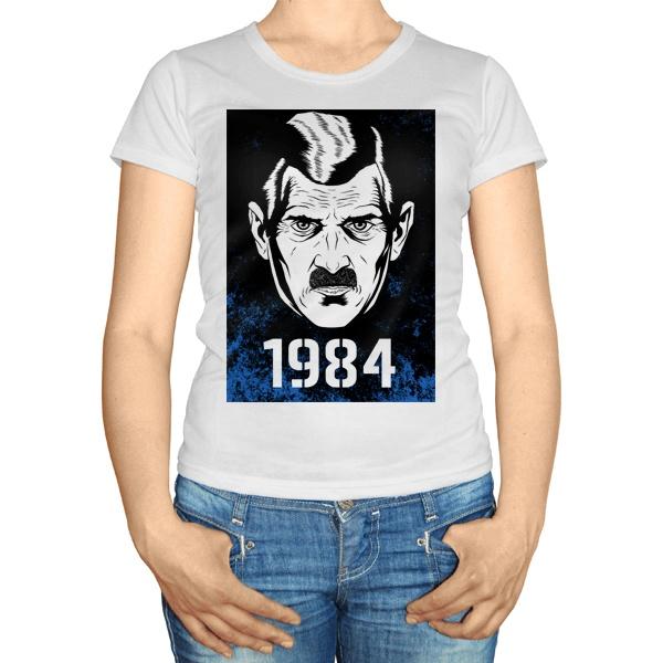 Женская футболка 1984, цвет белый